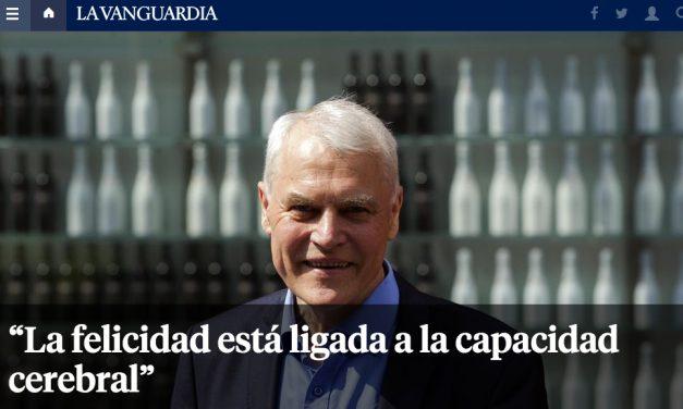 """""""La felicidad está ligada a la capacidad cerebral"""" La Vanguardia"""